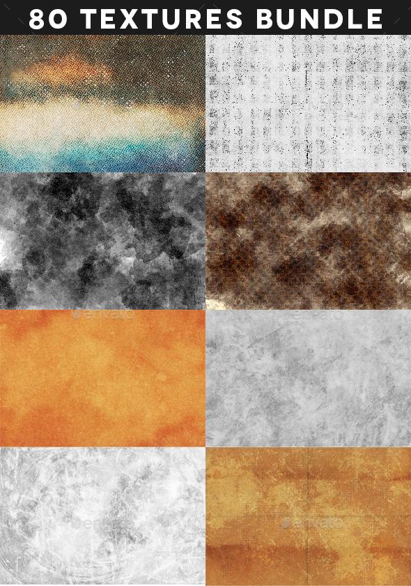 80 Artistic Textures Bundle - Textures