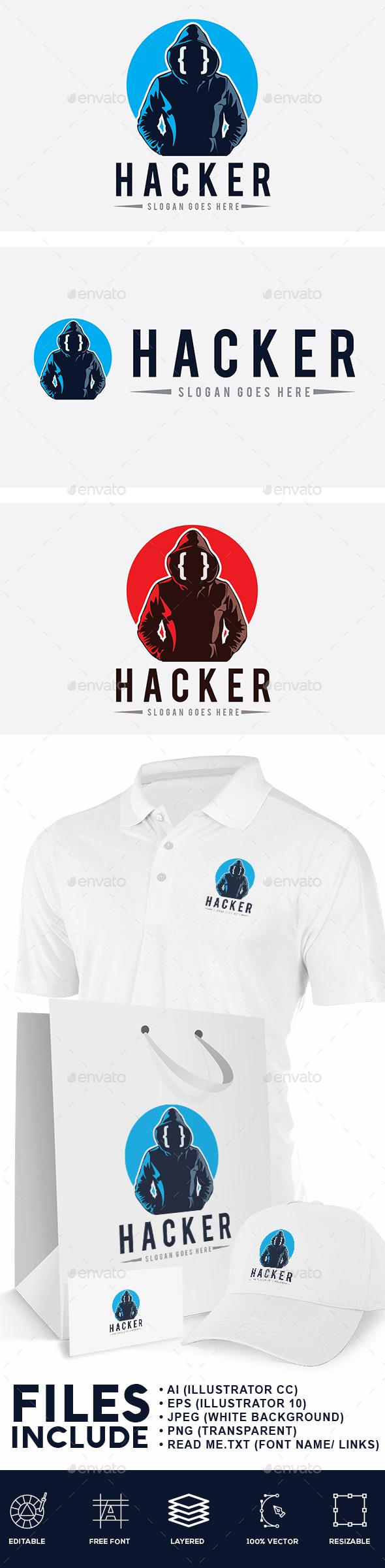 Hacker Man Logo - Humans Logo Templates