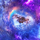 Travel Through Abstract Space Nebulae with Planets and Energy Flare - VideoHive Item for Sale