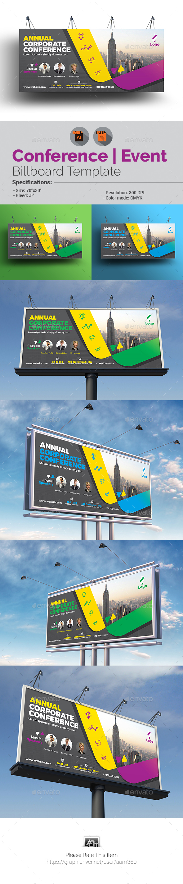 Event Summit Conference Billboard - Signage Print Templates