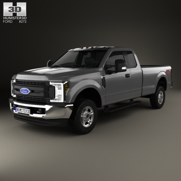 Ford F-250 Super Duty Super Cab XLT 2015 - 3DOcean Item for Sale