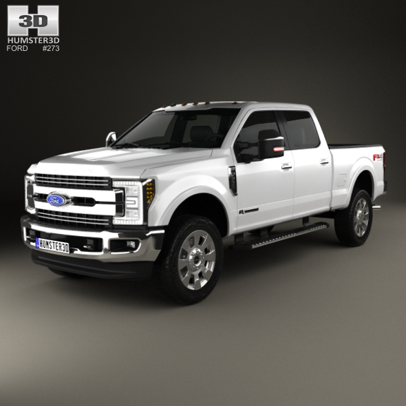 Ford F-350 Super Duty Super Crew Cab King Ranch 2015 - 3DOcean Item for Sale