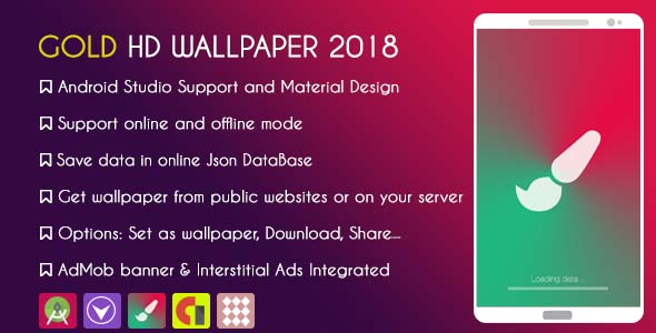 Gold HD WALLPAPER 2018 - With ADMOB - CodeCanyon Item for Sale