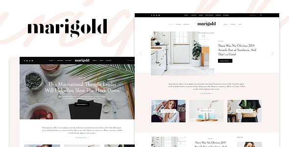 Marigold - A WordPress Blog & Shop Theme