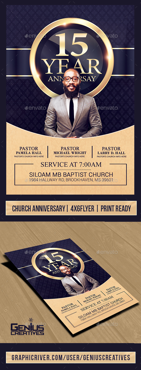 Church Anniversary Flyer Template V3 - Church Flyers