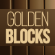 Golden Vertical Blocks Loop Background - VideoHive Item for Sale