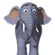 Cartoon Elephant RIGGED