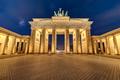 The illuminated Brandenburg Gate at night - PhotoDune Item for Sale