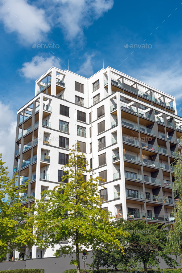 Big modern apartment house  - Stock Photo - Images