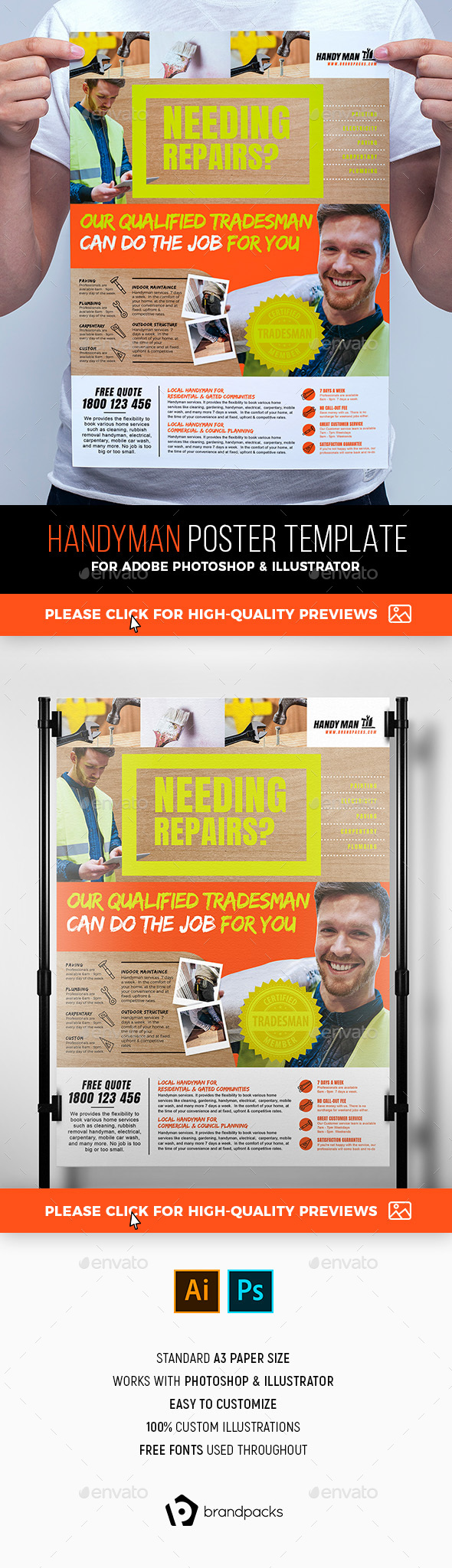 Handyman Poster Template - Commerce Flyers