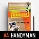 A4 Handyman Poster Template - GraphicRiver Item for Sale