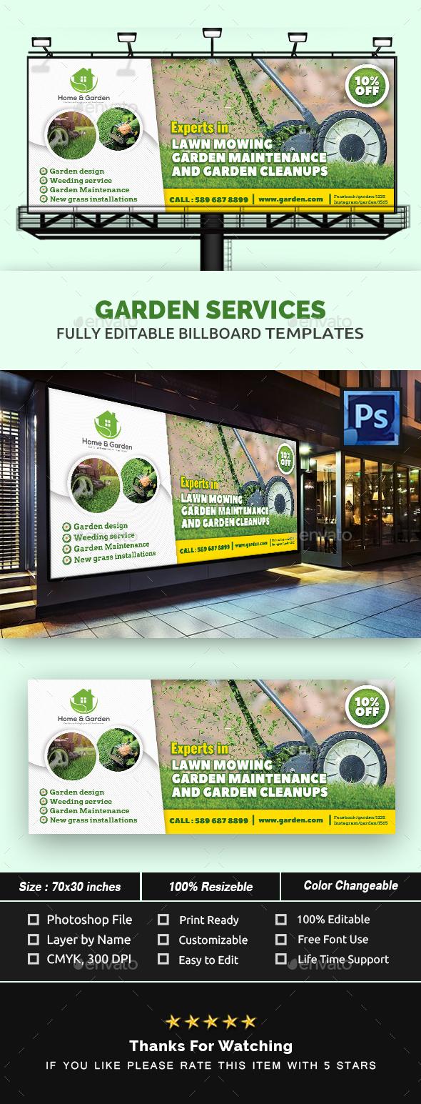Garden Landscape Billboard Template - Signage Print Templates