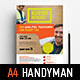 A4 Handyman Advertisement Template - GraphicRiver Item for Sale