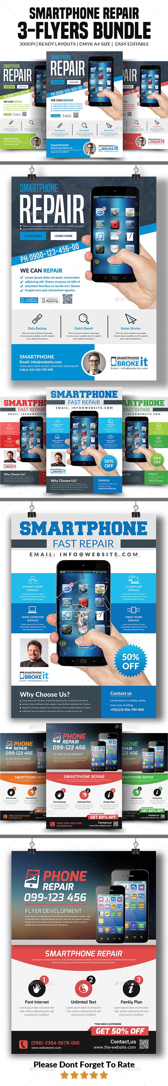 Smartphone Repair Flyers Bundle - Corporate Flyers