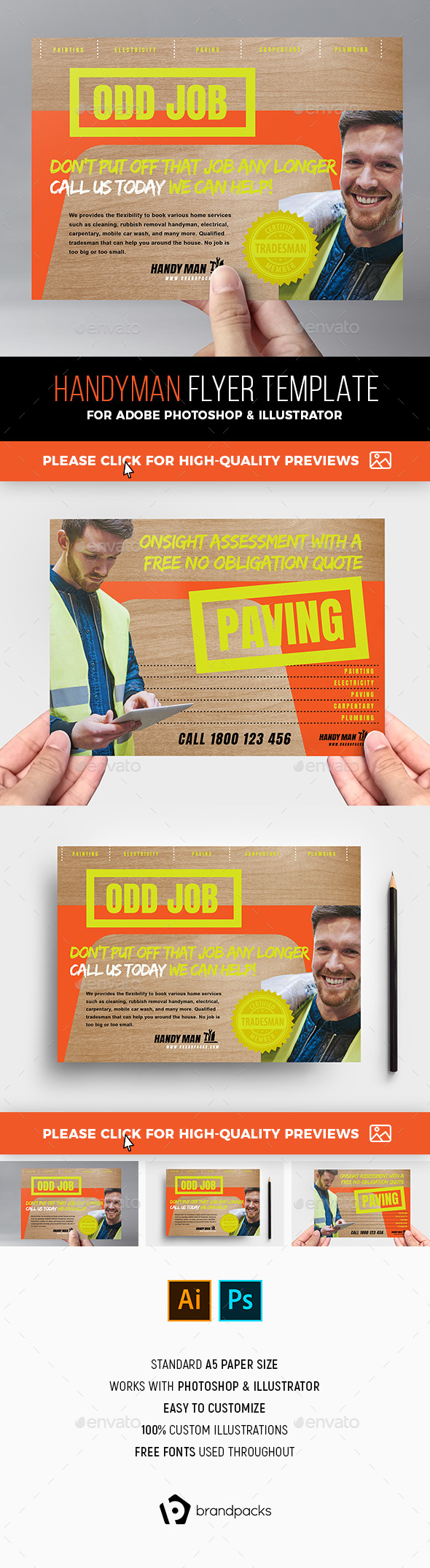 Handyman Flyer - Commerce Flyers