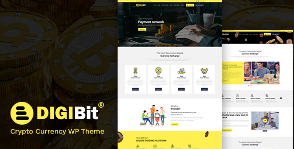 DigiBit - Cryptocurrency, Bitcoin & Mining Theme