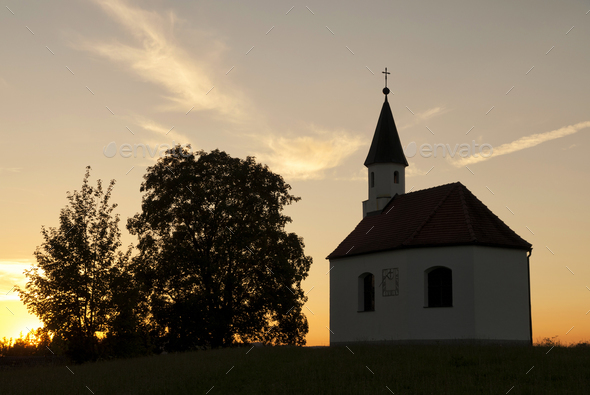 chapel near Steingaden - Stock Photo - Images
