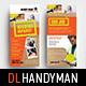 DL Handyman Rack Card Template