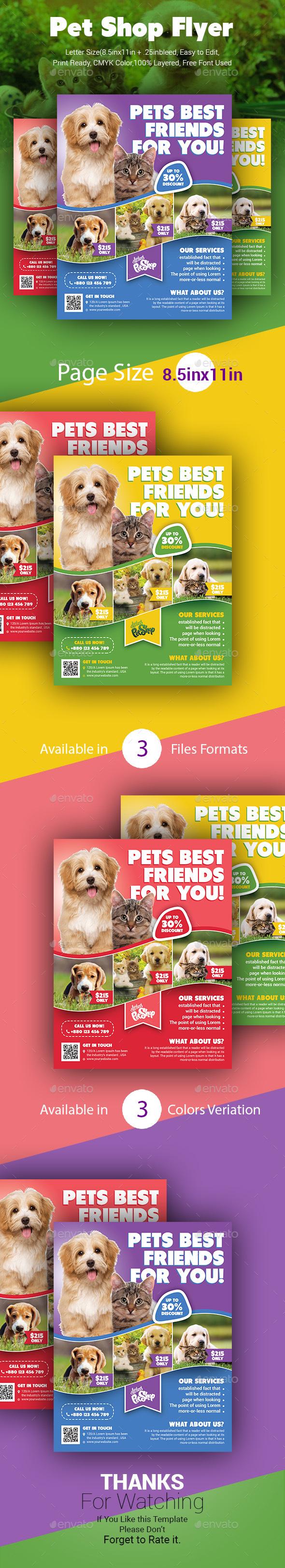 Pet Shop Flyer - Commerce Flyers