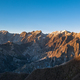 Apuane alpi snowy mountains and marble quarry at sunset in winte - PhotoDune Item for Sale