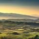 Tuscany Maremma foggy morning, farmlands and green fields. Italy - PhotoDune Item for Sale