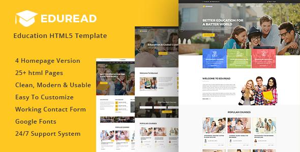 Image of EduRead - Education HTML5 Template