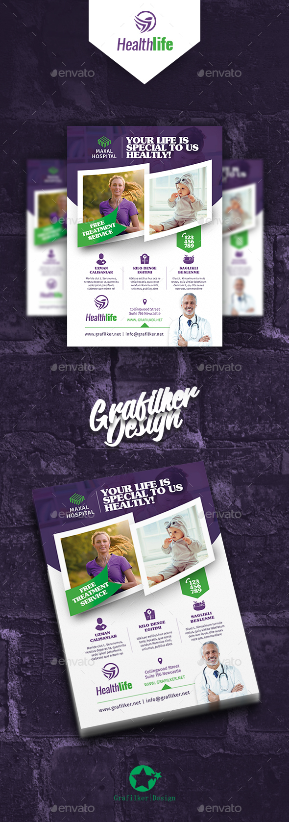 Healthy Life Flyer Templates - Corporate Flyers