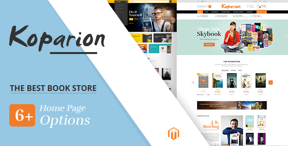Koparion - Book Shop Responsive Magento Theme