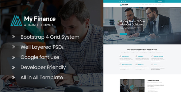 MyFinance - Investment and Finance PSD Template