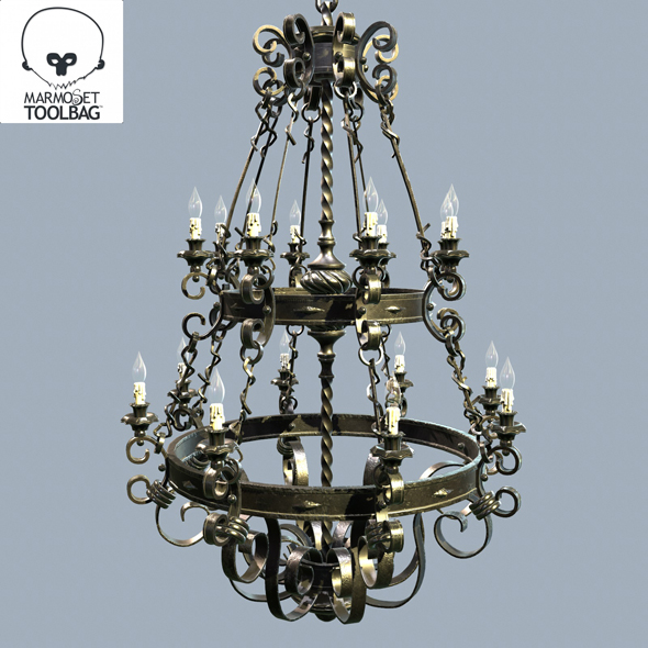 Forged chandelier 3d model by nicutepes 3docean forged chandelier 3d model 3docean item for sale aloadofball Image collections