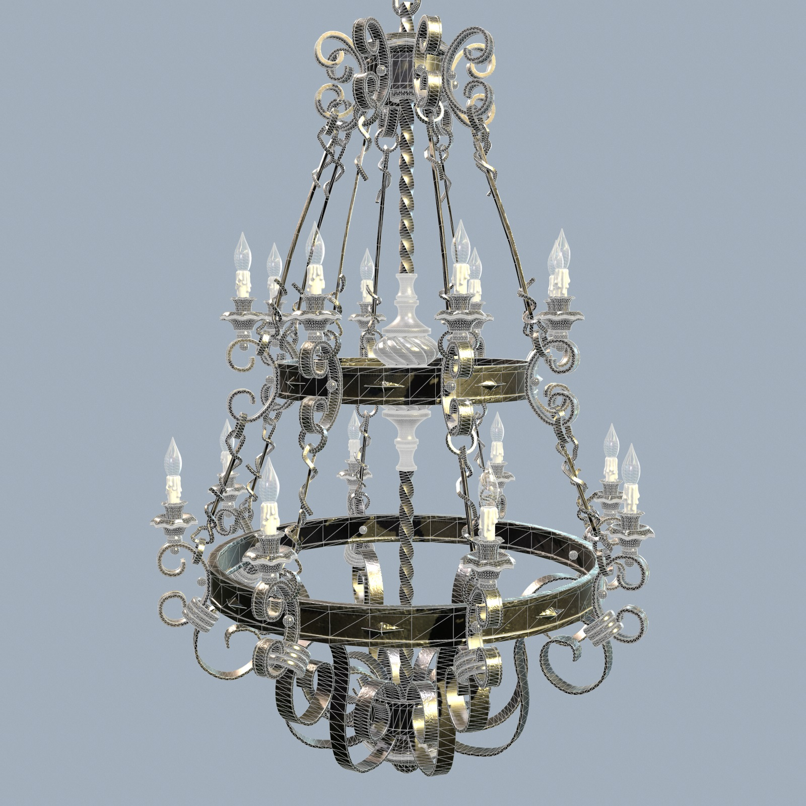 Forged Chandelier 3d Model By Nicu Tepes 3docean