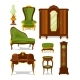 Antique Furniture in Cartoon Style. Vector - GraphicRiver Item for Sale