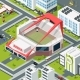 Isometric Urban Landscape with Modern Building - GraphicRiver Item for Sale