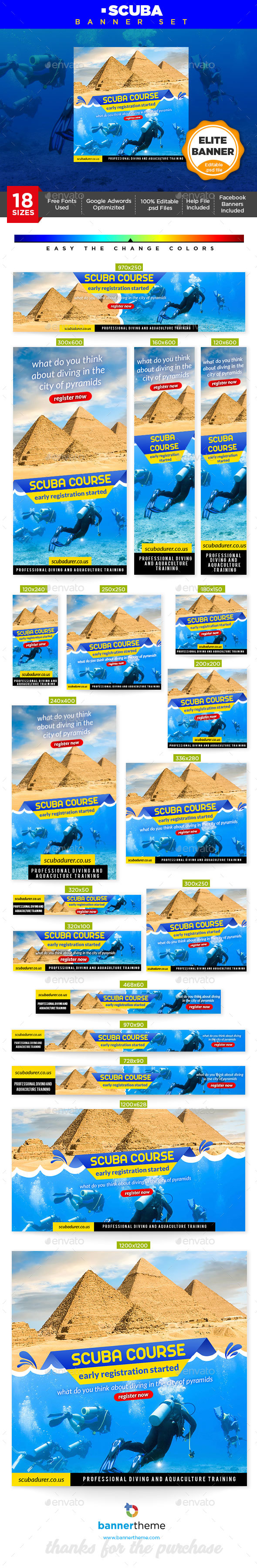 Scuba Banner - Banners & Ads Web Elements