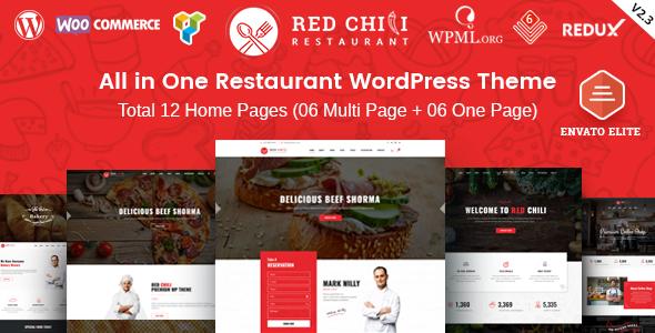 RedChili - Restaurant WordPress Theme for Restaurant, Food & Cafe - Restaurants & Cafes Entertainment