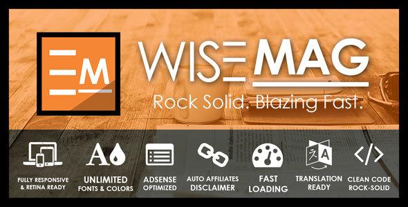 Wise Mag - The Wisest AD Optimized Magazine Blog WordPress Theme
