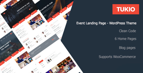 Tukio | Event Landing Page WordPress Theme - Events Entertainment