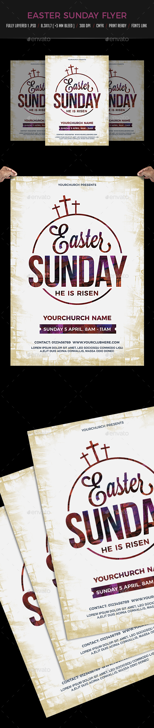Easter Sunday Flyer Poster - Events Flyers