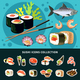 Sushi Flat Composition