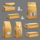 Tea Packaging Set Realistic Transparent