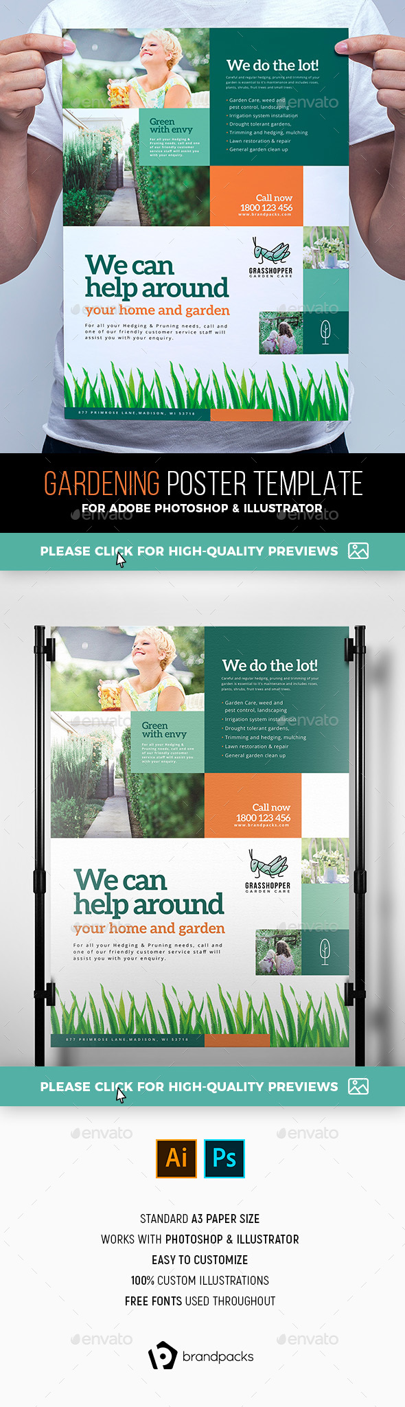 Gardening Poster Template - Corporate Flyers