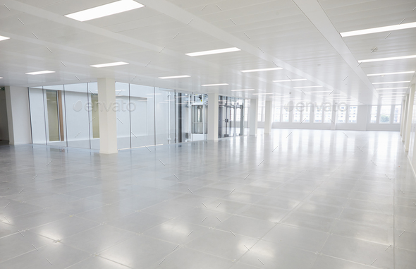 Large vacant open plan office space - Stock Photo - Images