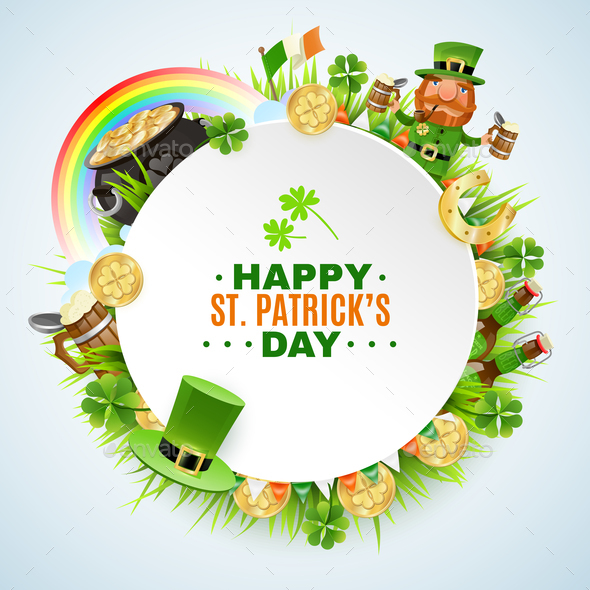 Saint Patricks Day Round Frame - Miscellaneous Seasons/Holidays