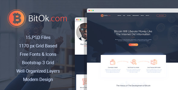 BitOk - Bitcoin PSD Template - Business Corporate