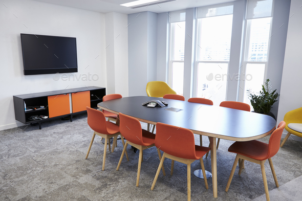 Empty boardroom at a modern business premises - Stock Photo - Images