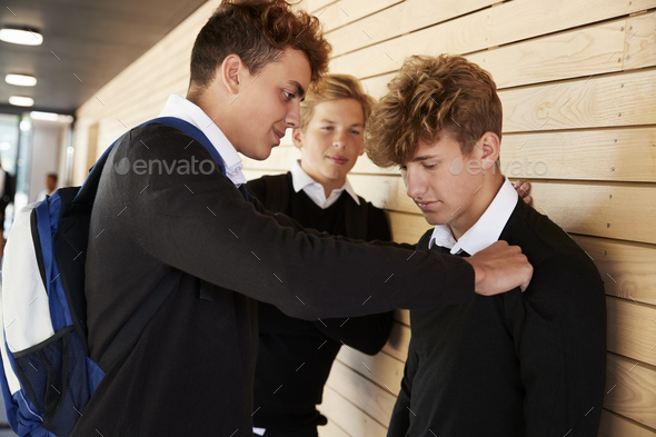 Teenage Boy Being Bullied At School - Stock Photo - Images