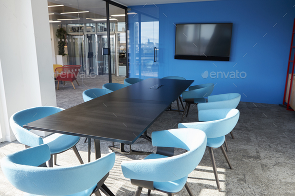 Empty business meeting room in an office - Stock Photo - Images