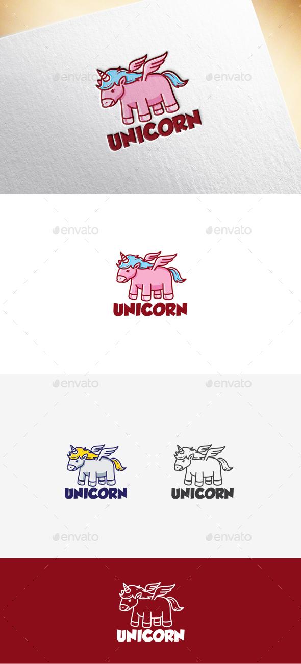Unicorn Logo - Animals Logo Templates