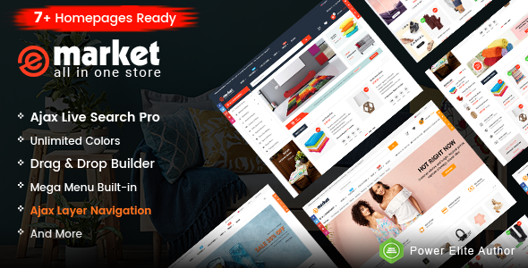 eMarket - Responsive & Multipurpose Sectioned Drag & Drop Shopify Theme - Shopify eCommerce