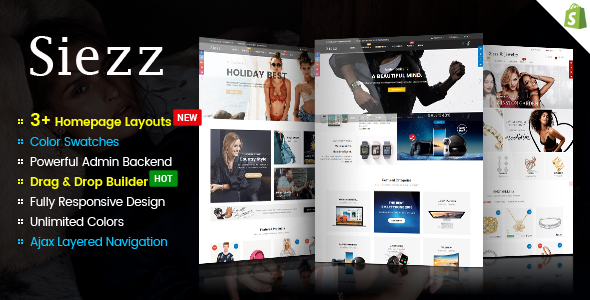 Image of Siezz - Advanced Drag & Drop Responsive Shopify Theme